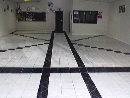 photograph of a commercial tiling job by Versa Tile Ceramics, Hampshire