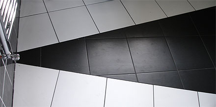 photograph of a floor tiled by Versa Tile Ceramics